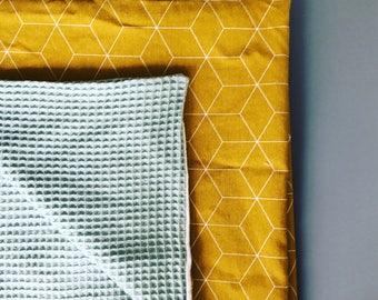 Fluffy geometric baby blanket