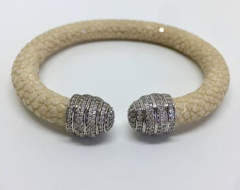Genuine Stingray Leather  Bracelet
