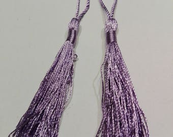 Tassel of silk, purple, 11 cm