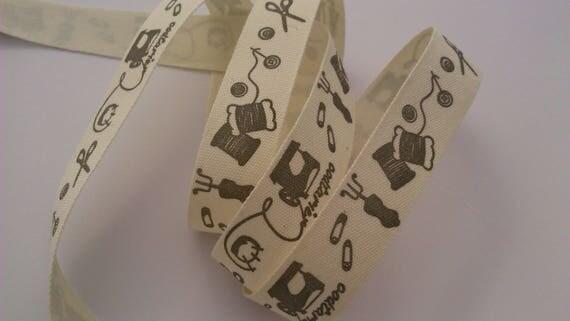 "Cotton pattern ""couture"" Ribbon"