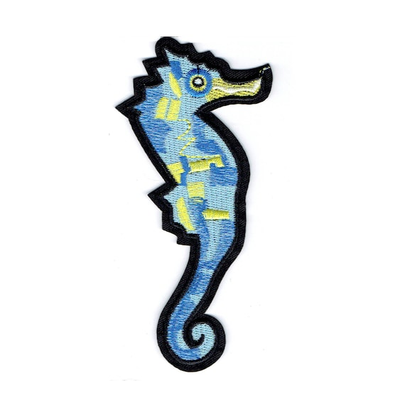 "Patch fusible pattern ""hippocampus"""