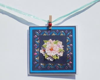 Stickers and 3d 40 flowers card
