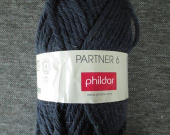 Phildar Partner 6 colors (Navy) peacoat #11 50g ball