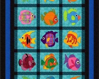 Wonderfully Fishy, applique pattern