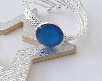 lagoon blue silver Cuff Bracelet