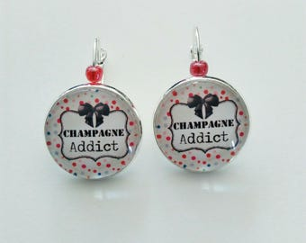 Earrings for champagne addict