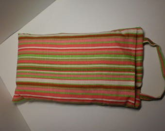 Heating pad dry wheat / Lavender stripes cover