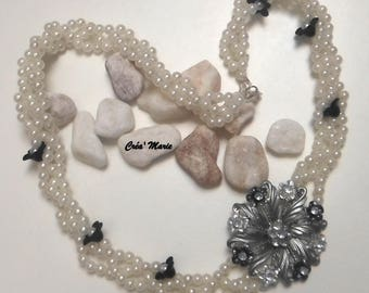 Wedding FLORAL Co300 necklace