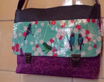 Shape handbag Crossbody bag in cotton and linen coated