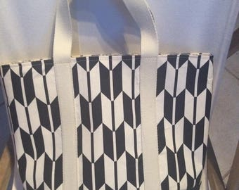 Blue Japanese fabric tote bag