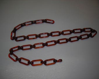 Amber plastic chain for handle handbag.