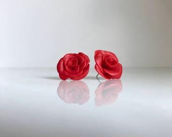 Rose Earrings, Rose Studs