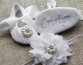 Personalized shoes newborn girl shoes Personalization Add Personalization Personalized Baby Shoes Personalized Baptism Shoes