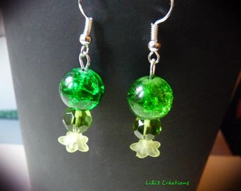 """Green"" Pearl Earrings by Sammy"