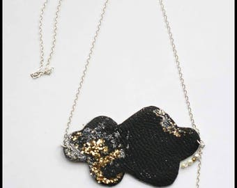 Star Cloud glitter charm necklace