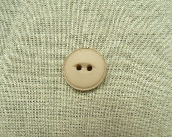 Acrylic button with 2 holes - 18 mm - beige