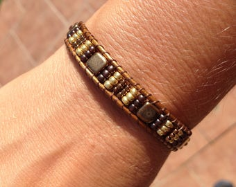 Round 1 wrap bracelet beads seed beads and tila beads