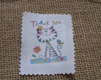 Image transfer, to sew, cat, animal, bird, flowers