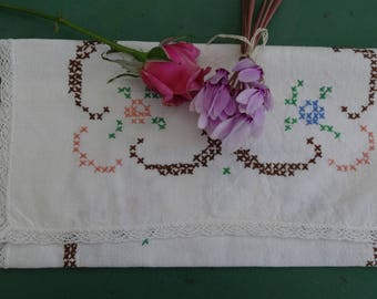 French antique linen napkin case