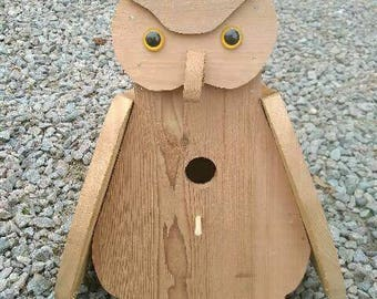 Wooden birdhouses