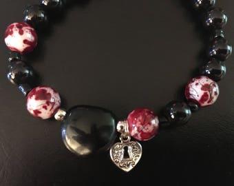 Elastic beaded bracelet- Adult