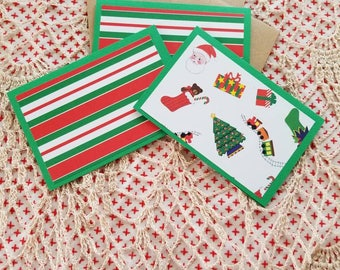 Christmas blank note cards with personalization upon request