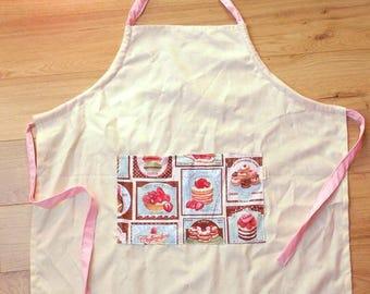 Pink baking apron