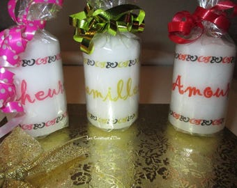 Small candles to be personalized 7 cm (H)