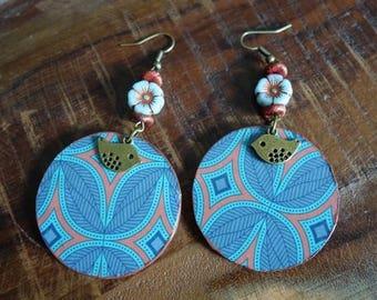 "Earring ""Choupinys"", Collection LaPieM, ethnic, ethnic, Bohemian, boho"