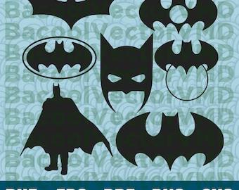 Batman SVG Pack - Batman Clipart - Batman Cut Files - SVG Files For Silhouette - Files For Cricut - Cuttable design