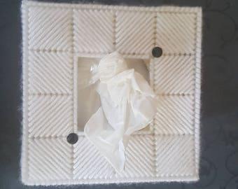 White handkerchief box