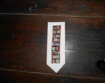 Personalized embroidered bookmarks - library