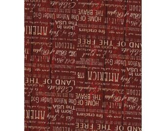 patchwork fabric American writing 11230602