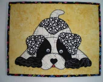 Small wall patchwork adorable dog