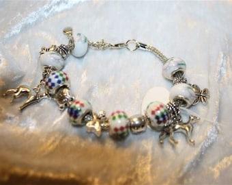 Greyhound charm bracelet