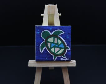 Miniature Turtle Painting
