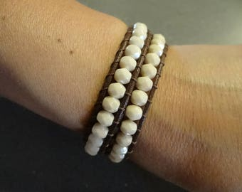 Chan Luu Bracelet by Crystal champagne with two laps