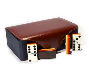 Jumbo Domino Double Six, 5 Coats 100% Acrylic. Deluxe Case