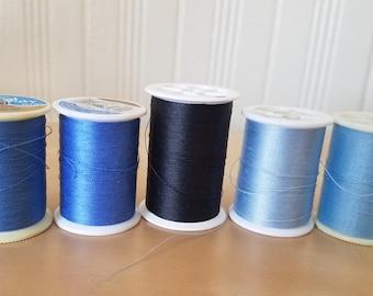 Blue Polyester Thread Destash