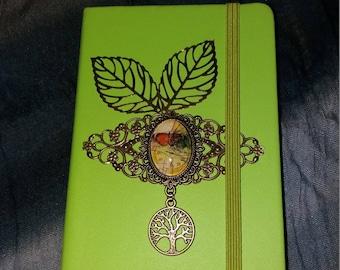 "Green notebook, NoteBook ""time Butterfly"""