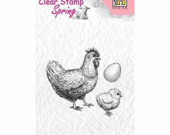 Stamp clear possin/chicken/egg 4 9 x 3, 7 cm - SPCS004