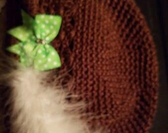 Brown toddler hat