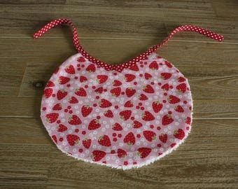 Strawberry print baby bib