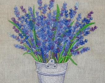 French Lavender in a Pail