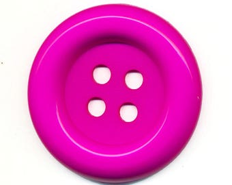 Big button fuchsia pink clown