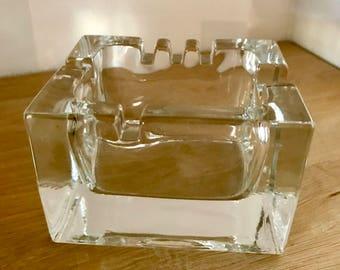 Kaj Franck Cigaro Ashtray - Finnish Vintage Glass Design from Arabia, Finland