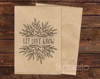 Seed Envelopes, Thank You Envelopes, Mini Envelopes, Brown Envelopes, Kraft Envelopes, Seed Packets, Small Envelopes, Wedding Favor x 10