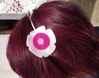 Felt flower headband pink