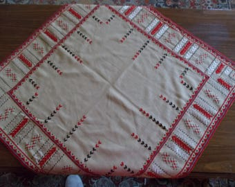 Traditional Handmade Embroidered Tablecloth, Linen tablecloth embroidery, Bulgaria, linen