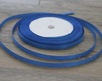20 m of 6mm blue colored satin ribbon